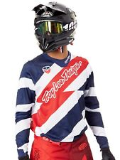 Troy Lee Designs White-Navy 2016 SE Air Caution MX Jersey