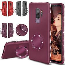 Luxury Diamond Bling Kickstand Soft Rubber Case Cover For Samsung S9+/S8 Note 8