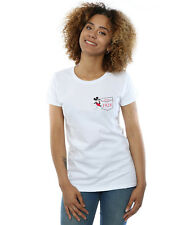 Disney Mujer Mickey Mouse Faux Pocket Since 1928 Camiseta