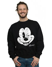 Disney Homme Mickey Mouse Distressed Face Sweat-Shirt