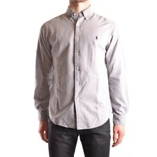 z360 RALPH LAUREN CAMICIA GRIGIA COTONE UOMO MEN'S COTTON GRAY SHIRT