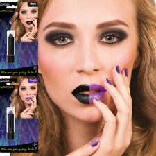 Black & Purple Halloween Witch Lipstick Face Paint Make Up Fancy Dress