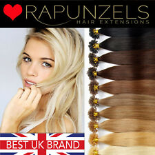 """18"""" pre bonded u tips keratin hair extensions 1g or 0.5g double drawn Rapunzels"""