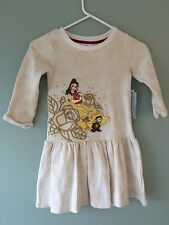 NWT DISNEY STORE Princess Belle DRESS 5/6 Girl Beauty and the Beast Girls