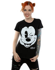 Disney Femme Mickey Mouse Distressed Face T-Shirt