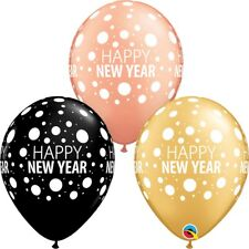 """Happy New Year Party Latex Balloons 11"""" Helium Quality - Qualatex"""
