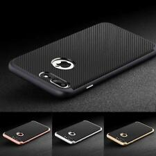 De Lujo Fibra Carbono Suave Funda Silicona TPU para Apple Iphone 6 6S 7 8 Plus