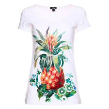 115466 JUST CAVALLI T-SHIRT DONNA WHITE/ORANGE