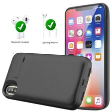 Power Bank Backup Charging Portable Cover External Battery Case For iPhone X 8 7
