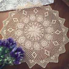 Vintage Crochet Cotton Lace Table Cloth Cover Small Round Tablecloth 70-75cm