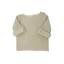 CFK pull beige manches 3/4 fille taille 3 ans