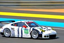 Porsche 911 RSR no91 24 Hours of Le Mans 2015 photograph picture poster print