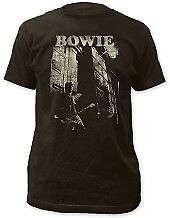 DAVID BOWIE T-Shirt Guitar And Building OFFICIAL MERCHANDISE