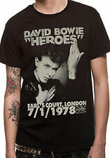 DAVID BOWIE T-Shirt Heroes Vintage OFFICIAL MERCHANDISE