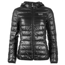 EA7 EMPORIO ARMANI WOMENS ULTRA LIGHTWEIGHT HOODED DOWN JACKET SLIM FIT L , XL