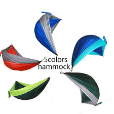 Portable Double Person Travel Camping Nylon Fabric Outdoor Hanging Bed Hammock