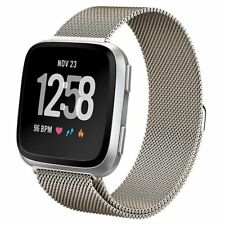 New Magnetic Milanese Loop Wrist Strap Replacement Watch bands For Fitbit Versa