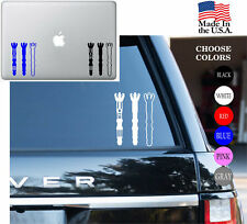 Dr. Who SONIC SCREW DRIVERS Vinyl Decal Sticker - Car Window, Laptop, Wall