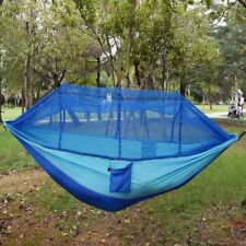 Portable Double Outdoor Hanging Hammock Travel Camping Swing Bed Mosquito Net