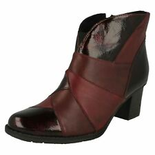 Ladies Rieker Heeled Ankle Boots - Z7676