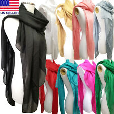 Womens Long Large Sheer Scarf Bridal Shawl Wrap Evening Party Scarf