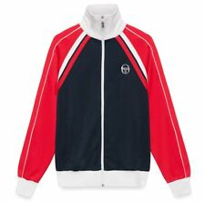 Mens Sergio Tacchini Navy Red Ghibli Track Top