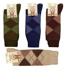 CALCETINES HOMBRE ROMBOS INTARSIA