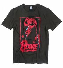 Official Charcoal David Bowie Aladdin Sane Anniversary T-Shirt from Amplified