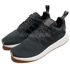 adidas Originals NMD_R2 Boost Black White Men Running Shoes Sneakers CQ2400