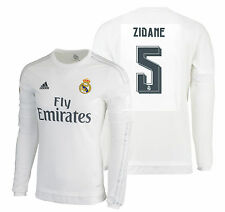 Adidas Zinedine Zidane Real Madrid Manches Longues Maillot Domicile 2015/16