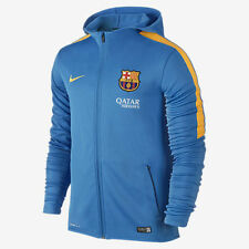 ebf97bf4844 NIKE FC BARCELONA GRAPHIC KNIT FULL ZIP HOODIE Light Photo Blue/Gold