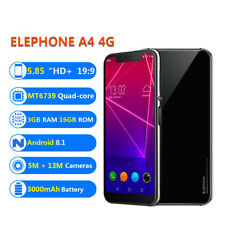 """5.85 """" Elephone A4 Bluetooth 4g LTE Smartphone 3g+16gb Quad-Core Android 8.1 8mp"""
