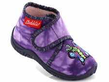 BECK BABBLS Baby Hausschuhe Nr. 642 FUNNY violet lila