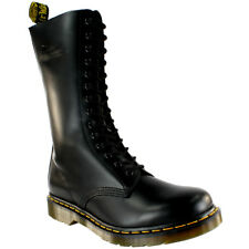Ladies Dr Martens 1914 Mid Calf Lace Up Black Leather Military Boot All Sizes