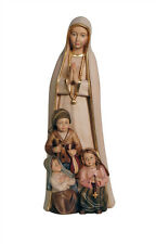 Our lady of Fatima with shepherd children statue wood carving