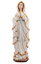 Our Lady of Lourdes statue wood carved (new model)