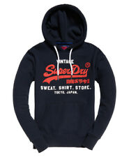 Superdry Sweat Shirt Shop Duo Hood in Eclipse Navy