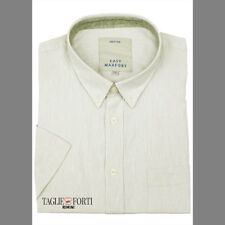 MAXFORT SHIRT MAN SHORT SLEEVE PLUS SIZE  1262 WHITE