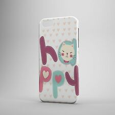 Happy Gatto Custodia con Amore Cuori Cover Cellulare (Cover The Edge)