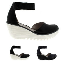 Womens Fly London Yand Leather Strappy Wedge Heel Summer Sandals Shoes UK 3-9