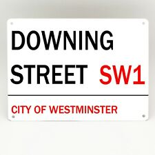 DOWNING STREET METAL SIGN SW1 LONDON STREET Road Vintage Retro Home Decor Plaque