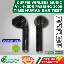 AURICOLARI BLUETOOTH CUFFIA WIRELESS MICROFONO
