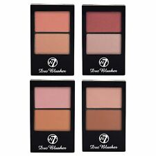 W7 Duo Colorete Colorete, Maquillaje Compacto Compacto Paleta Kit Set