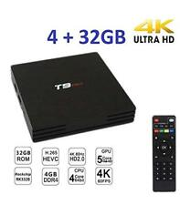 TV BOX T9 PRO MINI ANDROID 7.1.2 SMART TV 4GB RAM 32 GB ROM 4K IP GPU 5CORE WIFI