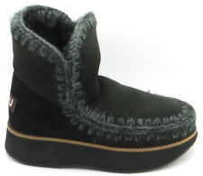 "MOU: STIVALI ""ESKIMO 18"" IN SHEARLING RUNNING NERO 20MM"