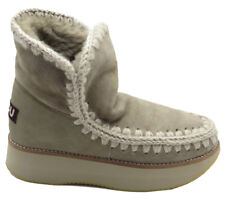"MOU: STIVALI ""ESKIMO 18"" IN SHEARLING RUNNING SABBIA 20MM"