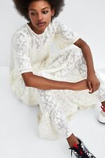 ZARA NEW AW18 ROMANTIC EMBROIDERED DRESS OFF-WHITE SIZES XS S M Ref. 5107/301