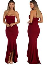 Womens Strapless High Low Mermaid Long Evening Gown Party Dress Plus Size 12-16