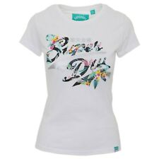 T shirt Superdry manches courtes femme Stacker Infill G10006HQDS Blanc