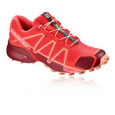 Salomon Womens Speedcross 4 Trail Running Shoes Trainers Sneakers Red Sports